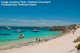 Boats at Parakeet Bay, Rottnest, image by Graeme