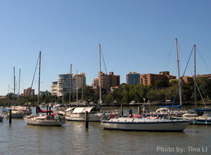 Boats on the Brisbane River